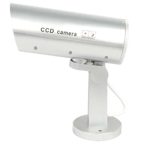 motion activated dummy camera with flashing red led light