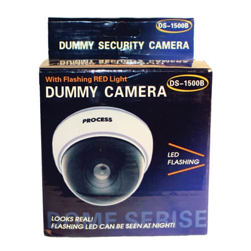 white dome dummy camera in package